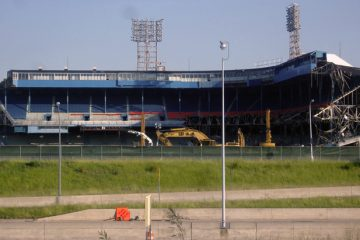 Tiger Stadium Demolished. Photo by John Cruz.
