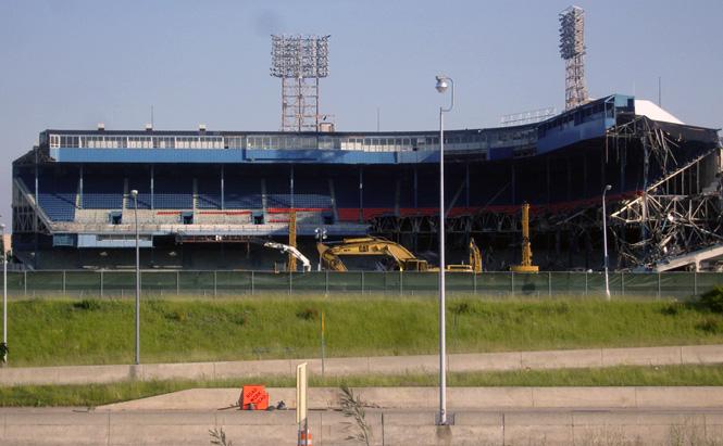 Tiger Stadium Demolished. Photo by John Cruz.