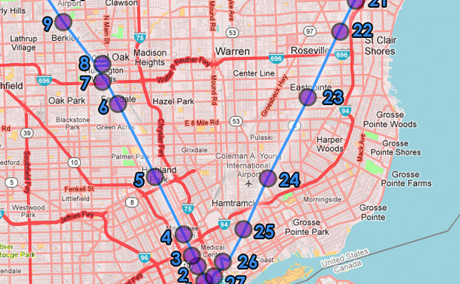 Detroit BRT Proposed Map