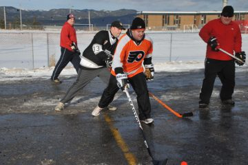 Parking Lot Hockey. Image courtesy of The Western Star.
