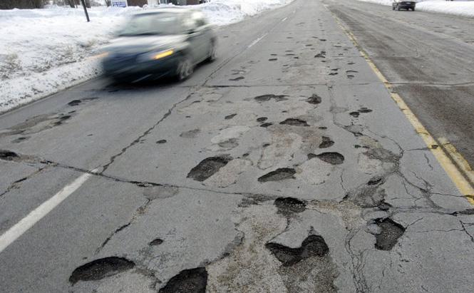 Pot Hole Roads. Courtesy of MLive.com