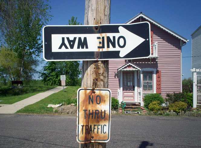 One Way Street Sign. Photo courtesy of nicejenny83 on Flickr.