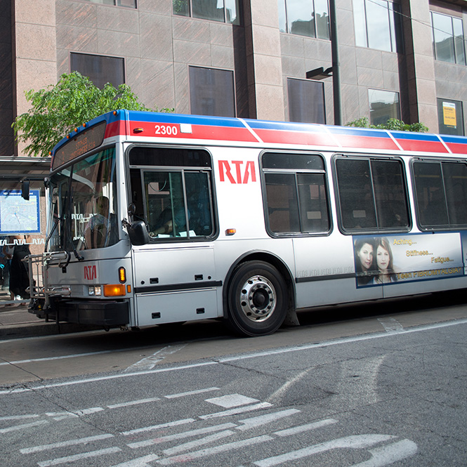 RTA Bus in Cleveland. Photograph by John Cruz.