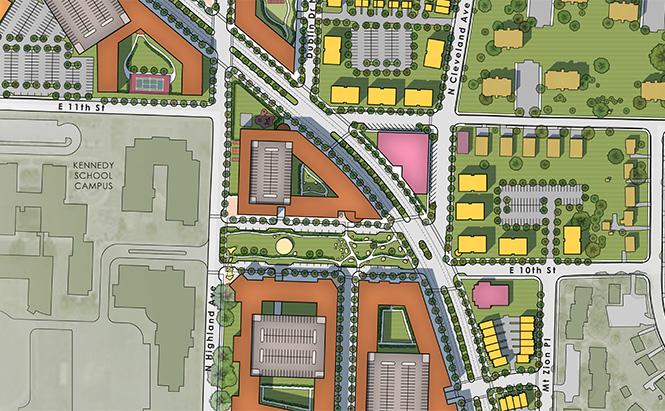 Cleveland Avenue Neighborhood (Winston-Salem North Carolina) revitalization master plan.