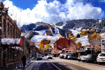 Aspen, Colorado as the seasons change
