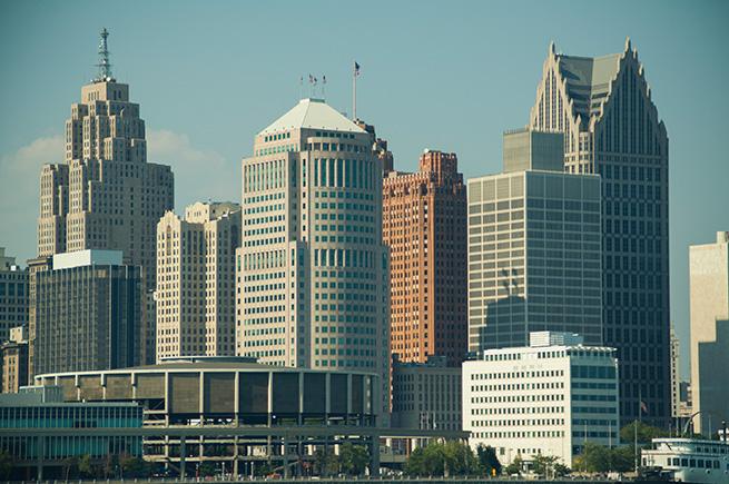 Detroit's Skyline from Windsor Ontario