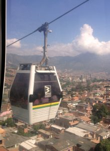 Medellín: Metrocable car and the Andalucía neighborhood. Photo by Author.