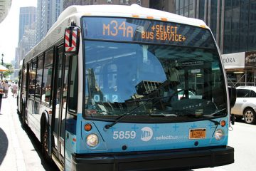 New York MTA bus. Photo by ses7 on Flickr.