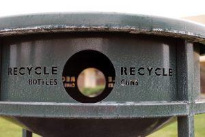 Public Recycling bin in San Jose, California. Photo courtesy of mksfly.