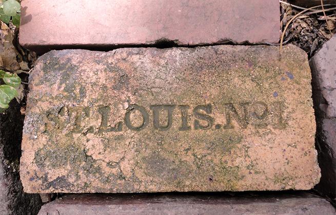 Brick in LaSalle Park, St. Louis, Missouri. Photo by pasa47 on Flickr.