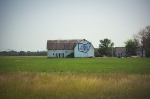 Barn in Rural Oho celebrates the Buckeye State's Bicentennial. Photo by John Cruz.