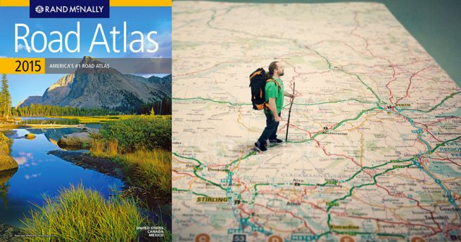 Atlas and Map. Images courtesy of Rand McNally and scottmacbride on Flickr. All Rights Reserved.