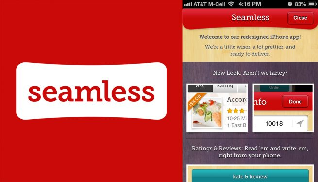 The mobile interface for Seamless.