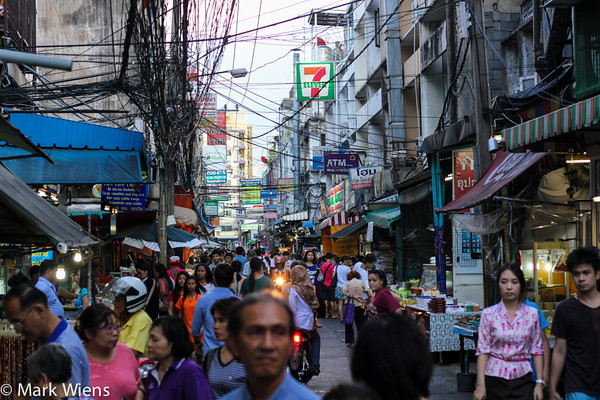 Human-scaled street life on one of Bangkok's side-streets (sois).Photo courtesy of Mark Wiens at migrationology.com