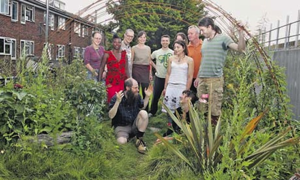 Members of the Sanford Walk housing coop in London. Photo: Frank Baron