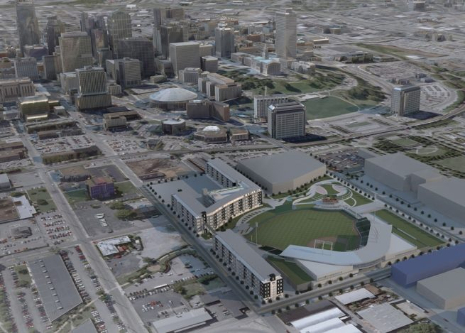 Sounds First Tennessee Bank ballpark rendering. Photo credit First Tennessee Park.