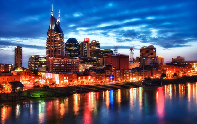 Blue Hour Over Nashville. Photo by Jim Nix on Flickr.