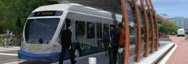 Rendering of the AMP bus station. Photo credit GoAmp.