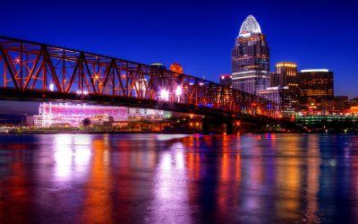 Cincinatti from across the Ohio River. Photo by Nickel Plate on Flickr.